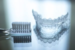 Caring for Invisalign aligners with toothbrushing