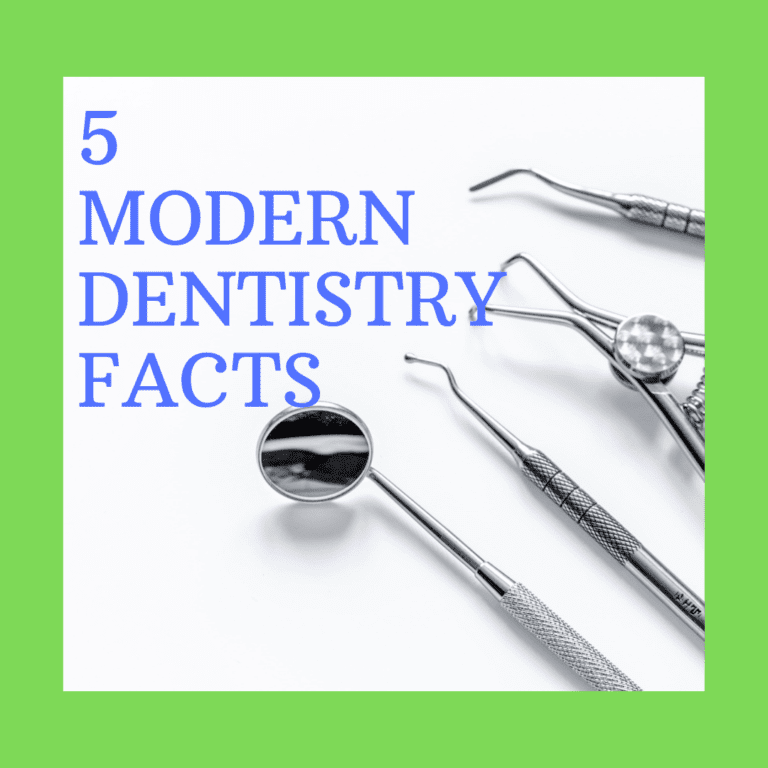 "title banner ""5 modern dentistry facts"""